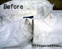 襟・袖の汚れ・黄ばみ 染み抜き